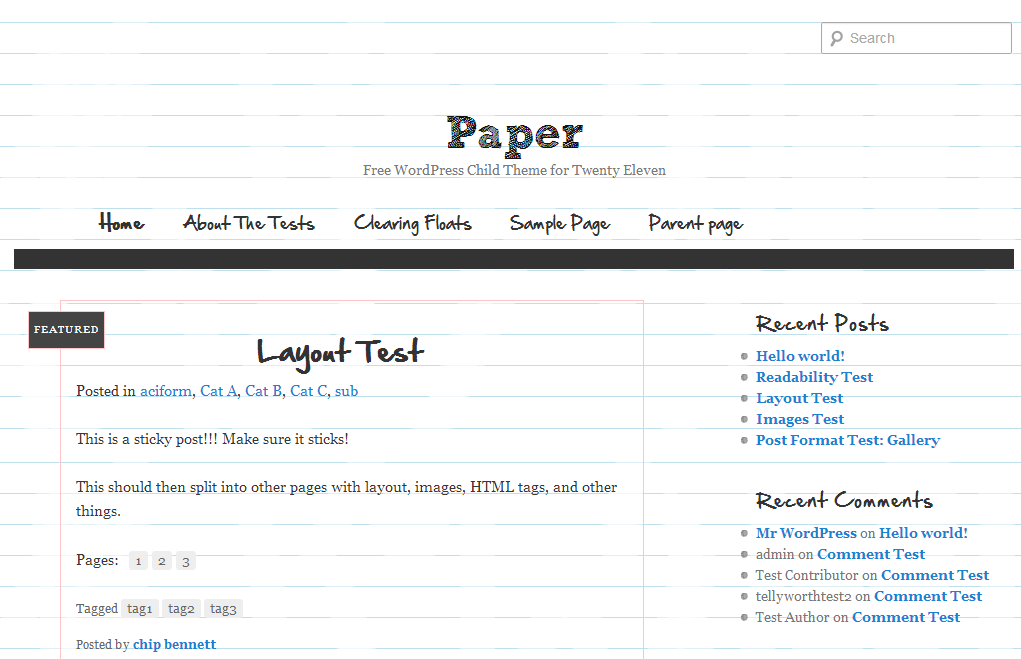 wordpress paper theme